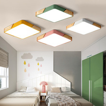 square Multicolor  LED Ceiling Light Modern Lamp Living Room Lighting Fixture Bedroom Kitchen Surface Mount Flush Panel lamp
