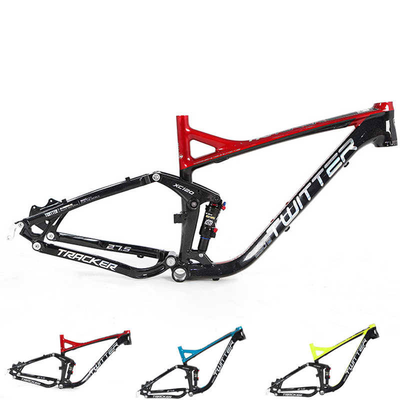 Twitter 27.5*17/19Inch Mountain Bike Full Suspension Aluminium Frame Downhill Bicycle Frame for AM XC