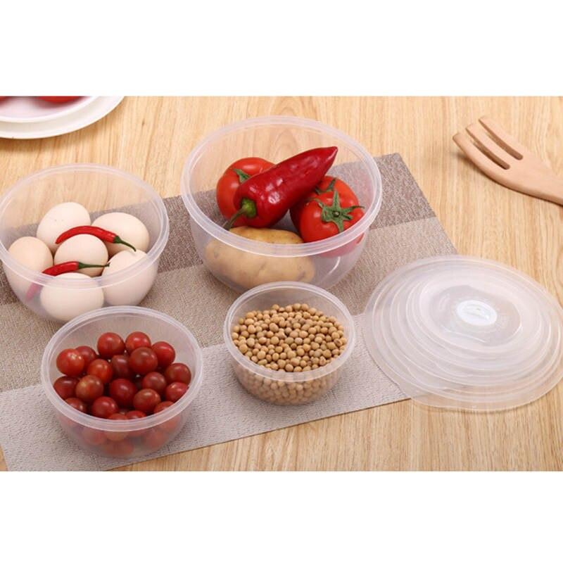 4pcs-set-Round-Plastic-Food-Container-Refrigerator-Crisper-Box-4-Sizes-Vegetable-Food-Preservation-Storage-Box (1)