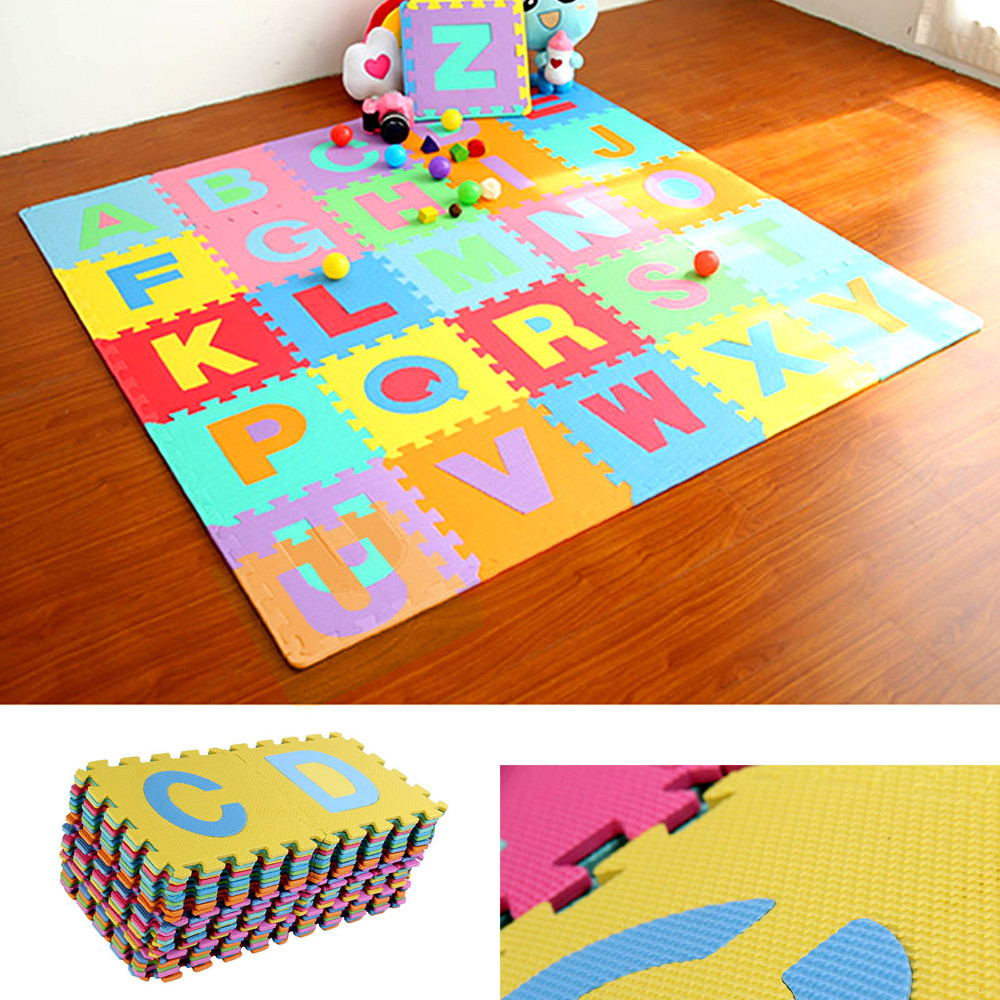Kids Baby Toys Soft Large Alphabet Play Mat Foam Nursery Play Room Set 10 Pcs