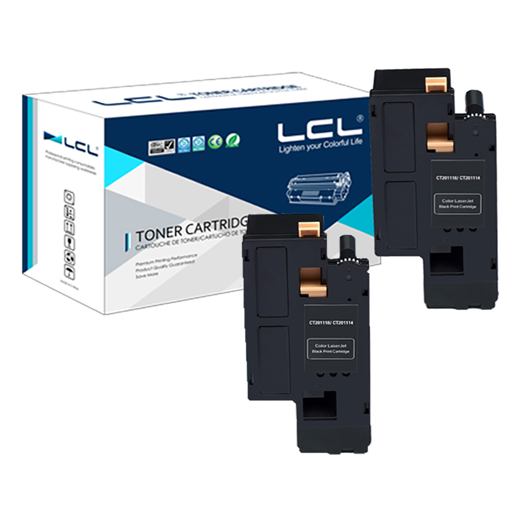 LCL CT201260 CT 201260 (2-Pack Black) 3000 Pages Laser Toner Cartridge Compatible for Fuji Xerox DocuPrint C1190 C1190FS 2065 3055 toner chip laser printer cartridge chip reset for xerox docuprint 2065 3055
