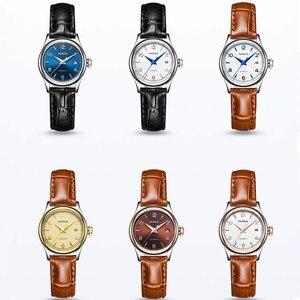 2019 najnowszy Hot 26mm parnis niebieski brązowy biały złoty Dial kobiety szafirowe szkło japan miyota mechanizm automatyczny panie zegarki