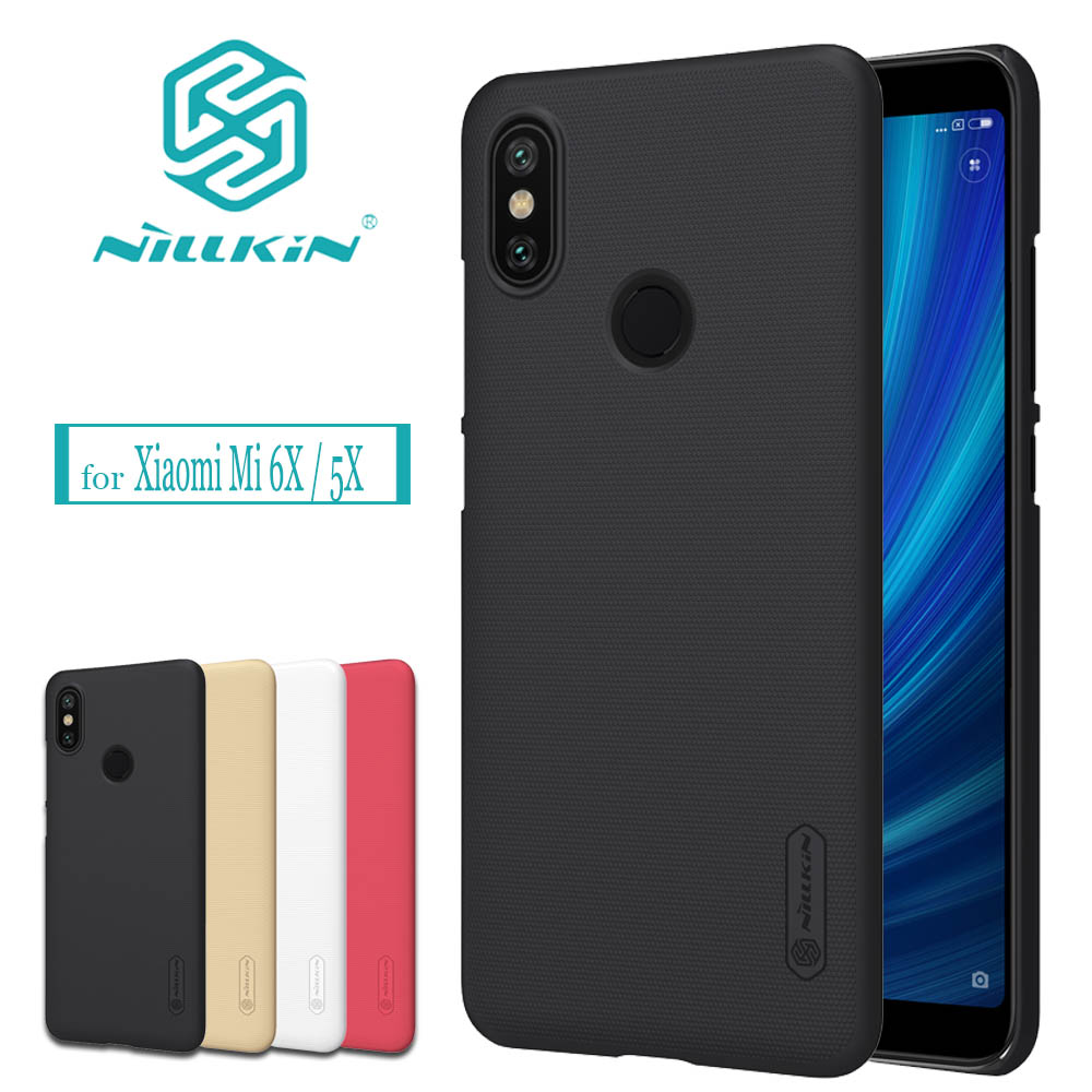Nilkin Capa for Xiaomi Mi 6X A2 / Mi 5X A1 Case Nillkin Frosted Matte Shield Hard PC Back Cover for Xiaomi Mi6X MiA2 / Mi5X MiA1