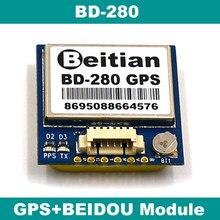 Beitian 1.25mm 6 pinos conector gps + beidou 4 m flash módulo 5.0 v 9600bps ttl 1 hz BD-280