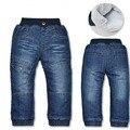 DK0050 Frete grátis top qualidade de inverno de espessura calças quentes de cashmere crianças meninos de jeans crianças calças de varejo