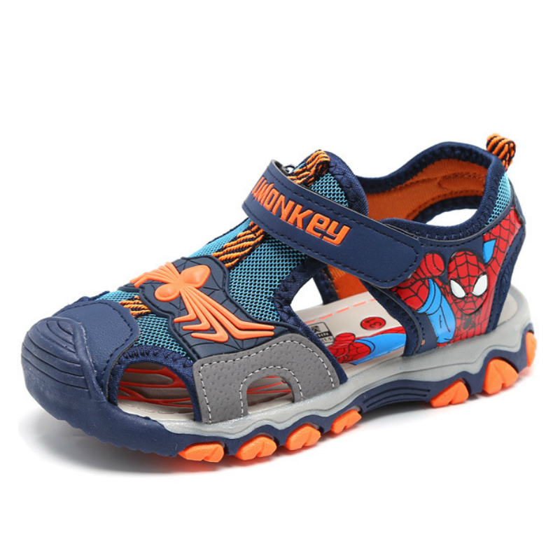 Rubber Closed Toe Sandals for Boys Children Summer Sandals Boys Fashion Kids Casual Sports Sandals Cartoon Spiderman Shoes in Sandals from Mother Kids