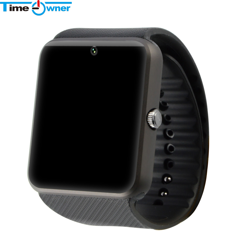 imágenes para Gt08 timeowner bluetooth smart watch smartwatch para iphone 6 7 plus samsung s4/note 3 htc android smartphones teléfonos android wear
