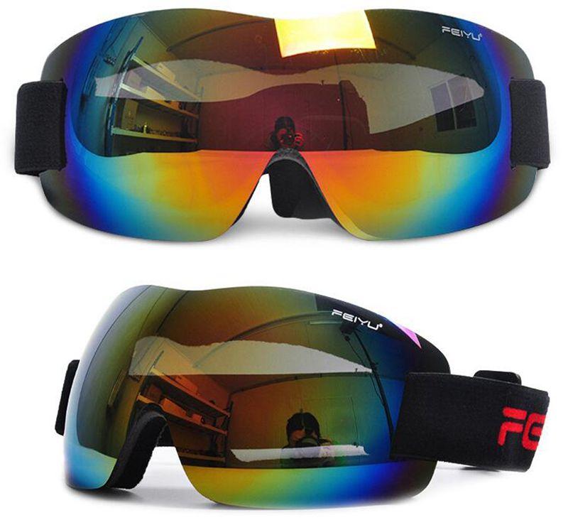 Hot sale!Ski Goggles UV400 Anti-fog Spherical ski glasses skiing men women snow goggles,Free shipping!