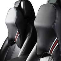 1 piece Leather neck pillow Cushions in the car Pillow for the neck Headrest neck support Memory Foam Car lumbar support