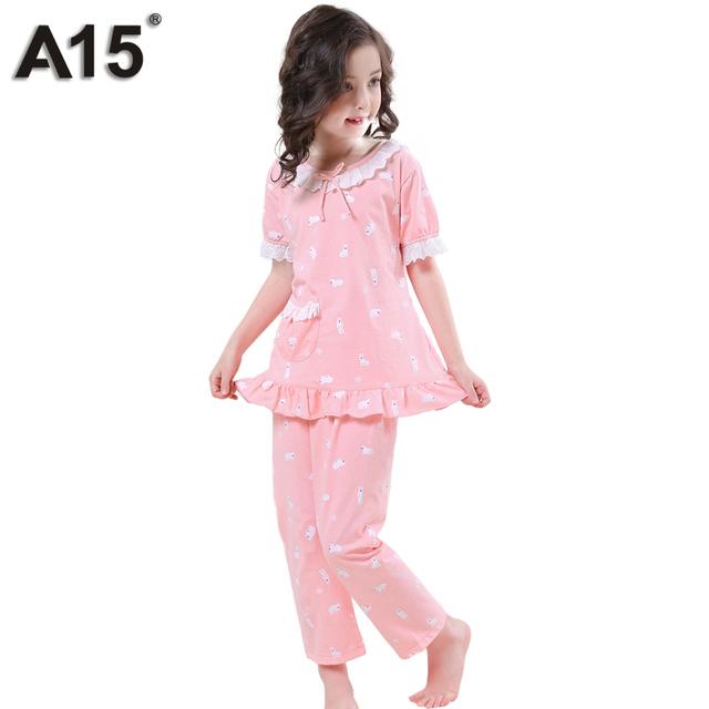 9aff325ff A15 Cartoon Kids Pajama Set Tops Pants Set Pyjamas Cotton Pajamas ...