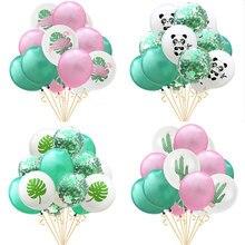 15pcs Thicken 12 Latex Confetti Balloons Flamingo Panda Ballon Babyshower Birthday Party Decorations Adult Kids Baloon