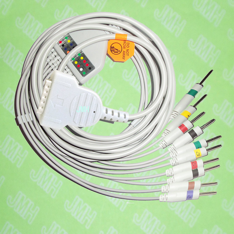 Compatible with GE/Hellige MicroSmart, MAC500/1200 EKG Machine,One-piece cable and leadwires,15PIN,3.0 DIN,IEC or AHA.Compatible with GE/Hellige MicroSmart, MAC500/1200 EKG Machine,One-piece cable and leadwires,15PIN,3.0 DIN,IEC or AHA.