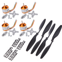 4set XXD A2212/13T 2200KV 1000KV Brushless Motor + 4 x 1045 10*4.5 Propellers (2 pair) for RC F450 F550 MWC Multicopter