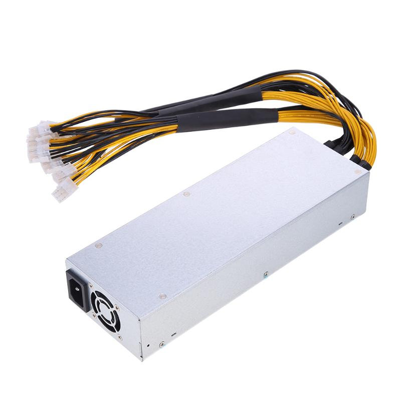 ALLOYSEED 1800W 180 264V Platinum Antminer Computer Power Supply Mining Power Supply For Antminer Miner With