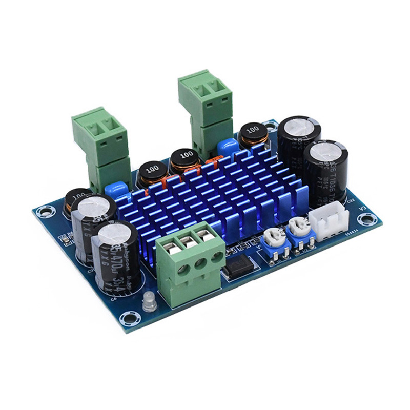 New TPA3116D2 High Power Digital Amplifier Board DC 8-28V Amplifiers Audio 2*120W Chassis dedicated xh m572 tpa3116d2 2 x 120w chassis dedicated plug in 5v 24v 28v output high power digital hifi amplifier board a7 003