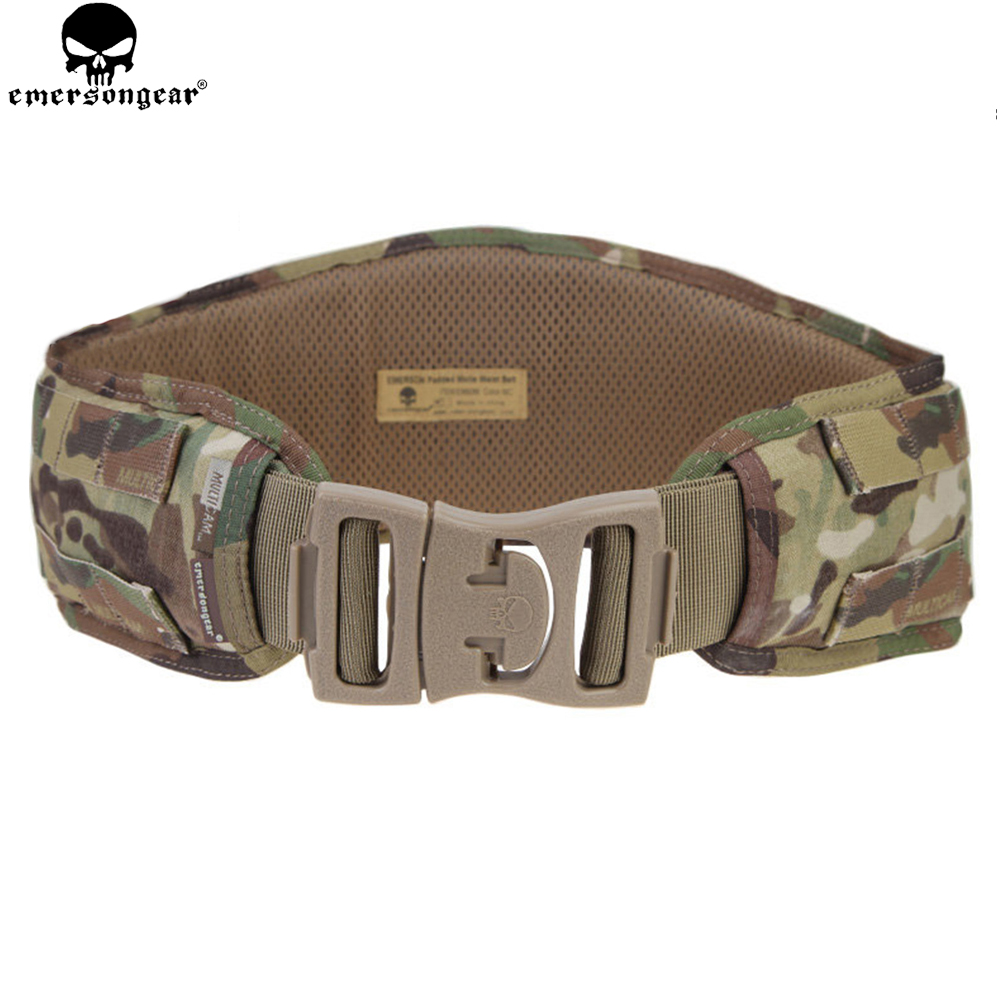 EMERSON Molle Waist Belt Hunting Padded Emersongear Men Airsoft Combat Waistband MOLLE Tactical EM9086 Multicam 1000D Nylon