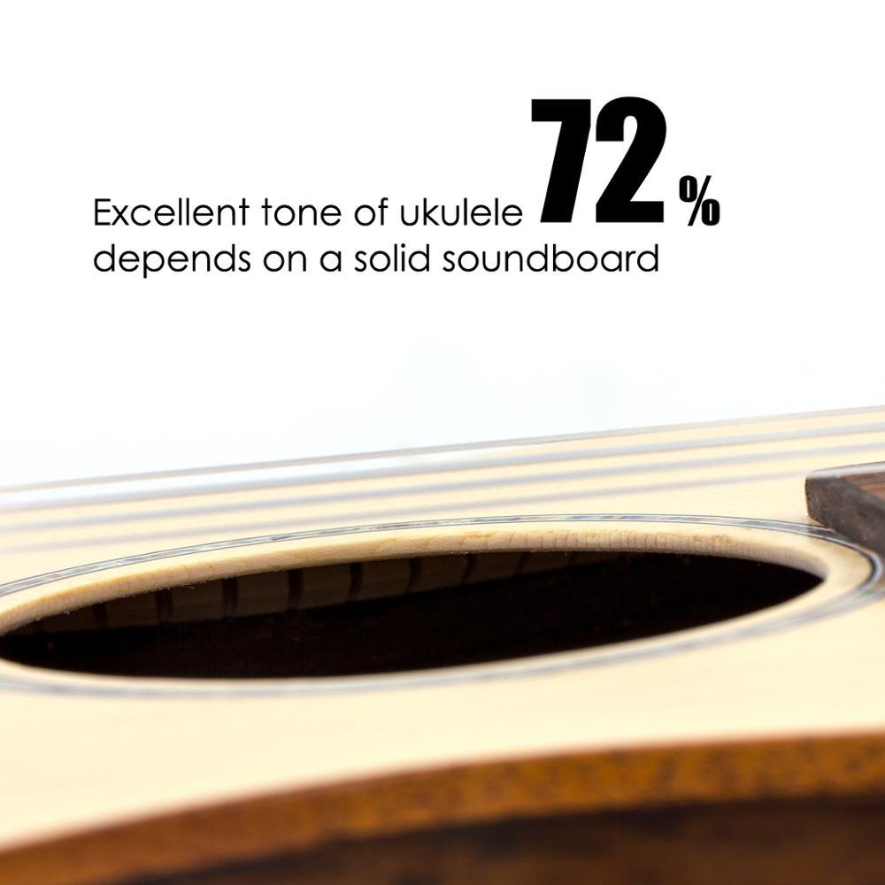 Kmise baryton ukulélé épicéa massif 30 pouces Ukelele Uke 4 cordes Hawaii guitare - 6