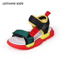 CCTWINS Kids Shoes 2019 Summer Girls Sandals Children Colorful Boys Beach Fashion Flats Toddler Baby Soft Barefoot Shoes BS360