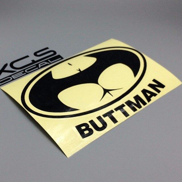 Xgs decal car decal vinyl cut sticker funny batman buttman 17cm x 11cm outdoor waterproof car