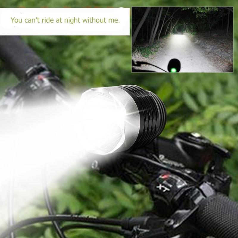 18650 Elfeland Q5 800LM 3Modes Zoomable Mini LED Flashlight Bicycle Light