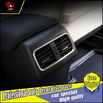 Car Styling ABS cromato Posteriore uscita aria Copertura trim per Honda CRV 2015 2016 scatola di immagazzinaggio di uscita dell'aria copertura decorare accessori