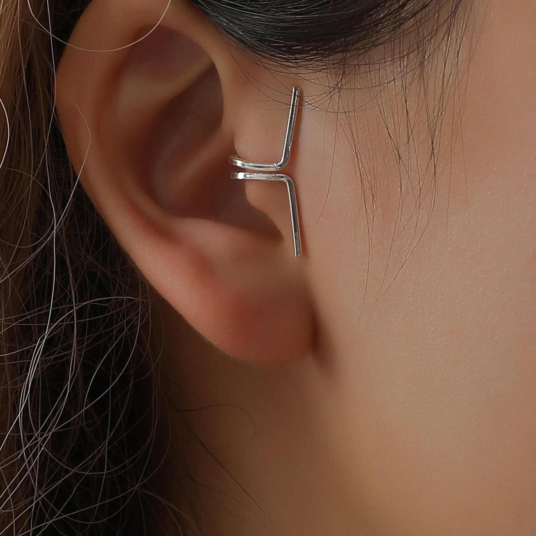 В стиле ретро полые П-образный уха клип кости серьги Невидимый не надо прокалывать уши