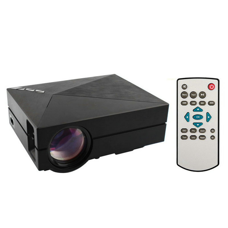 GM60 LCD Proyector 1000LM 800x480 p 1080 P Reproductor Multimedia Portátil para