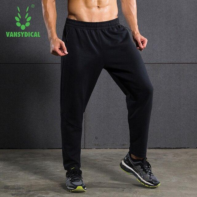 aa5725b639 Autumn Winter Men's Sports Pants Elastic Waist Fitness Sweatpants Mens  Running Pants Basketball Pure Cotton Loose Training Pants
