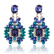 Hot 2016 nova Fshion verão Bohemian colorido grande brincos acessórios de moda de cristal oscila brincos mulheres presente