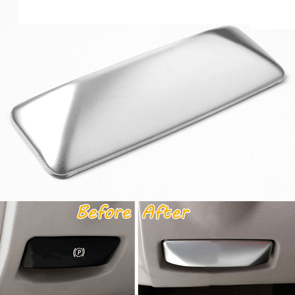 BBQ@FUKA Car Electronic Handbrake Cover Trim Interior Car Styling Decor Sticker For Mercedes Benz E Class GLK260 W212 2010-2015 dhl shipping 23pc x error free led interior light kit for mercedes for mercedes benz e class w212 e350 e400 e550 e63amg 09 15