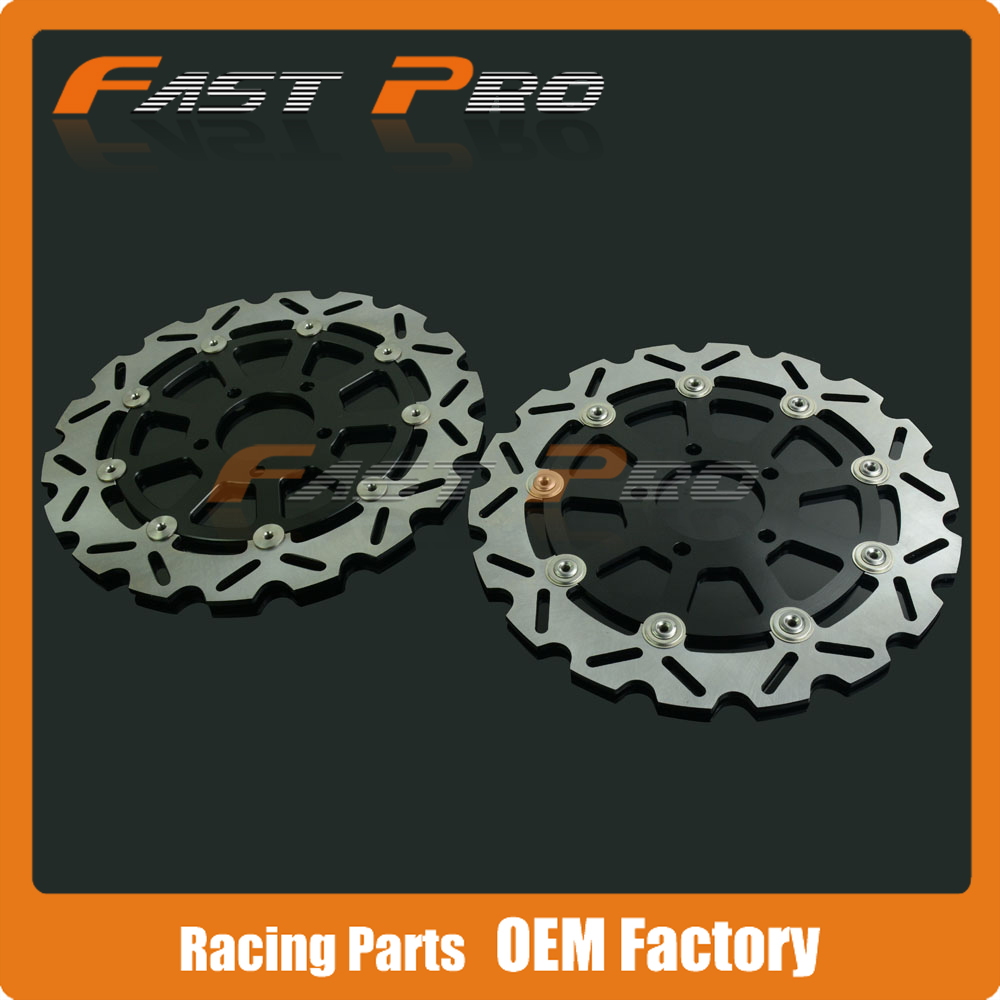 1 Pair Front Brake Disc Rotor For Kawasaki KLV1000 04-07 Suzuki V-STROM DL650 04-06 DL1000 02-10 SVS1000 03-07 SV1000 07-08 free shipping motorcycle brake disc rotor fit for suzuki dl1000 v strom 2002 2010 front