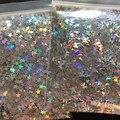 10 г/пакет серебристого золота голографический блеск 3 мм микро звезда/Бабочка Форма смешанный акриловый лазерный блеск для дизайна ногтей у...