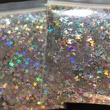 10g/bag Silver Gold Holographic Glitter 3mm Micro Star/Butterfly Shape MIX Acrylic Laser For Nail Art Decorations LS2356