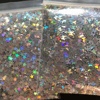 10g/bag Silver Gold Holographic Glitter 3mm Micro Star/Butterfly Shape MIX Acrylic Laser Glitter For Nail Art Decorations LS2356