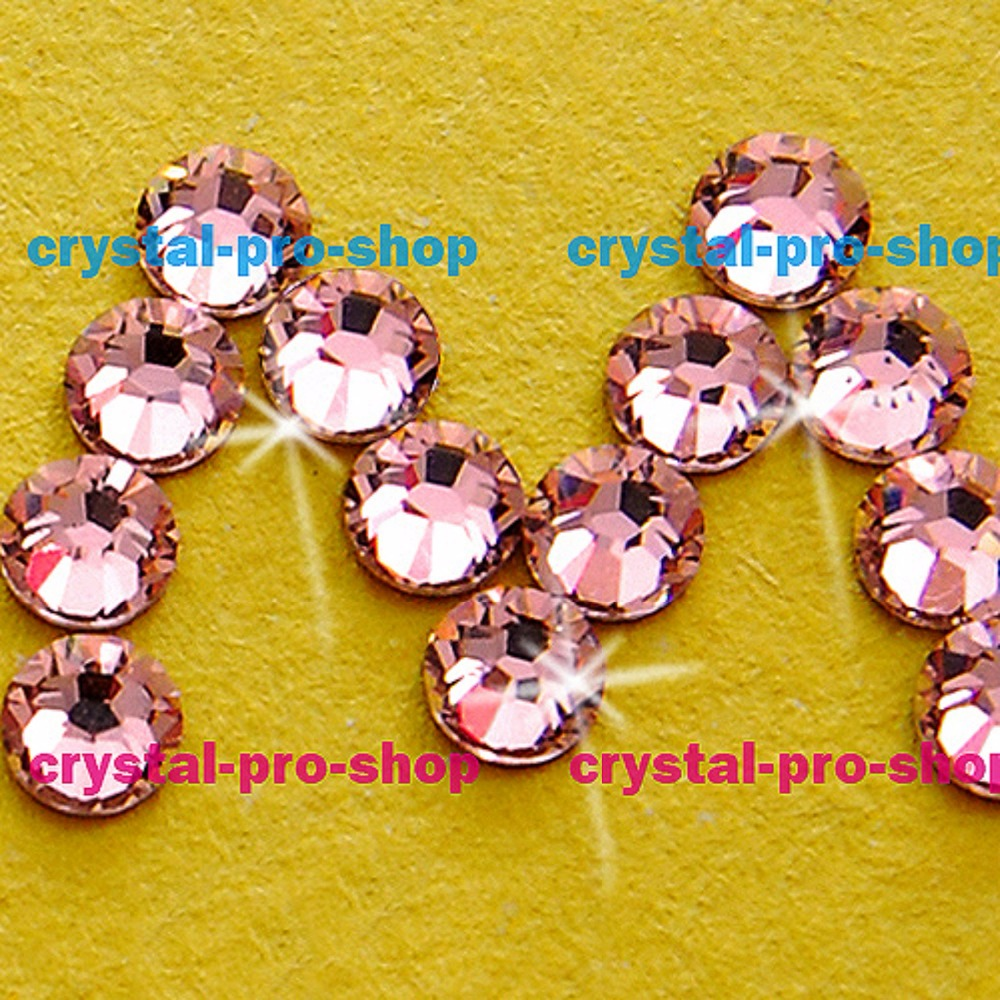 144 pieces Hotfix Iron-on 4mm Glass Rhinestones LIGHT ROSE PINK 1 gross 16SS