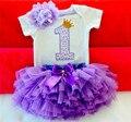 Ropa del Bebé Fija Los Mamelucos Del Bebé de La Falda de La Venda Primero Cumpleaños Trajes Trajes para 1 Año Bebes Infantil Boutique Ropa Conjuntos