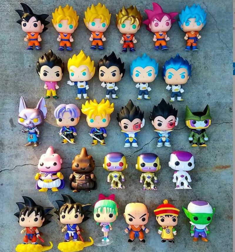 Original Used Funko Pop Dragon Ball Z - Super Saiyanjin God Guku Vegeta Krillin Trunks Buu Gohan Figures Collectible Model Toys