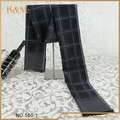 Fashion Man Acrylic Scarf Long Fringe Check Cotton Scarf Shawls Retail free shipping