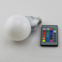 2015 New E27 RGB LED Bulb 10W Led Rgb Lamp Remote Control RGB Led Light RGB
