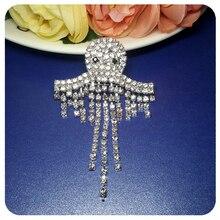 Halloween Gift BlingBling Crystal Ghost Brooch Pin