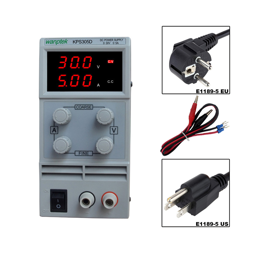 30V 5A DC Regulated Power High Precision Adjustable Supply Switch Power Supply Maintenance Protection Function KPS305D kps305d adjustable precision double led display switch dc power supply protection function 0 30v 0 5a 110v 230v