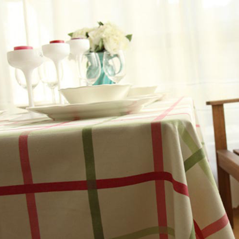Striped Tablecloth Colorful Korean Toalha De Mesa Table Cloths Cover  Crochet Tableclothes White Cotton Dining Table Restaurante In Tablecloths  From Home ...