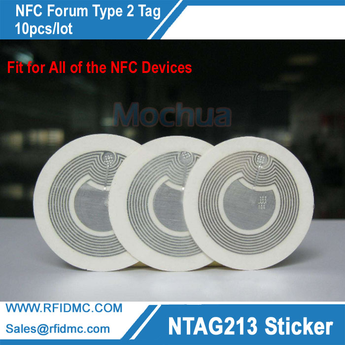 Ntag213 NFC Stickers Universal Lable Ntag213 RFID Tag for all NFC enabled phones-10pcs/lot 10pcs nfc tag sticker 13 56mhz iso14443a ntag 213 nfc stickers universal lable ntag213 rfid tag for all nfc phones