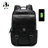 15 6 Inch Laptop Backpack Men Waterproof Multifunction USB Charging Male Mochila Leisure Travel Anti Theft