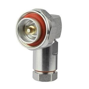 """Image 3 - Superbat 7/16 din macho plug center braçadeira de ângulo direito para 1/2 """"cabo flexível rf conector cabo montagem do cabo"""