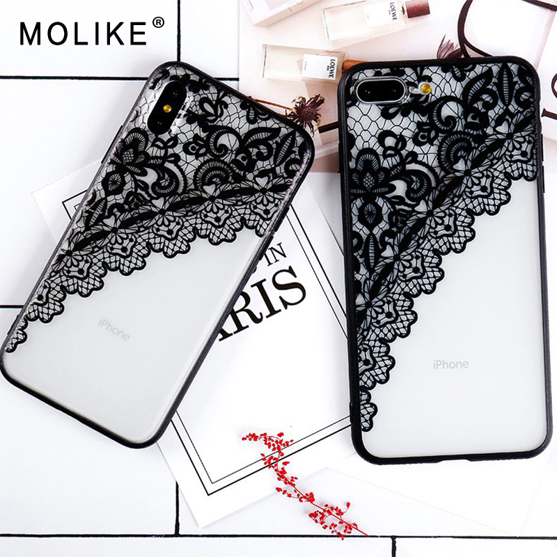 MOLIKE Phone Cover For iPhone 7 Case Luxury Sexy Lace Floral Henna Case For iPhone 6 6s  ...