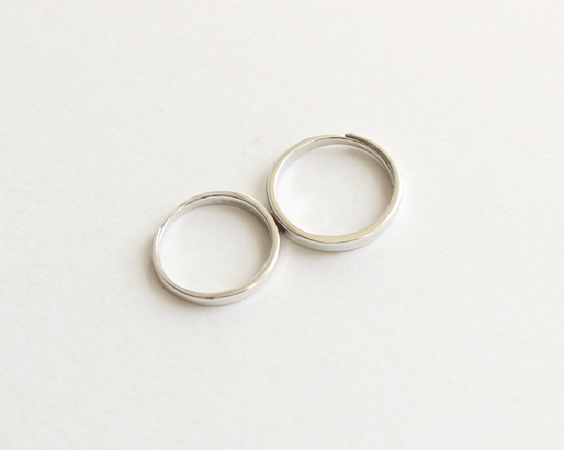 Silver Ring Simple Style Moon Sun Adjustable 925 Couple Rings For Girls Boys Best Friend Jewelry 6