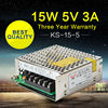 Switching Power Supply 5V 3A 15W AC DC 5V Switching Power Adapter For LED Module Light