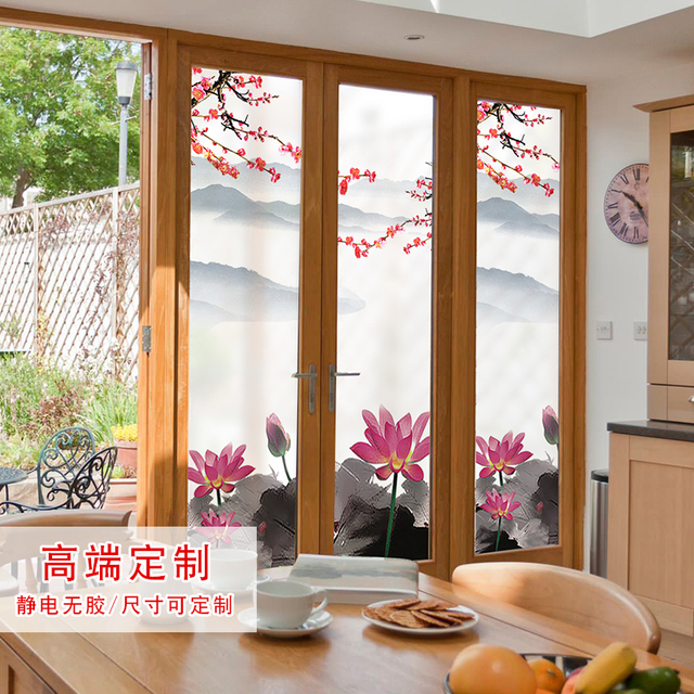decorating furniture with paper. Window Paper Glass Foil Decoration Home Furniture Transparent Opaque Partition Stickers Decorating With