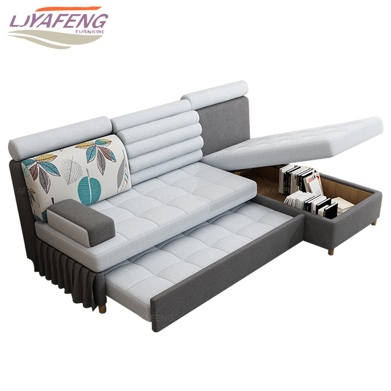 Fabric Folding Sofa Bed The With A
